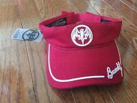 Bacardi Red Adjustable Visor Bat Embroidered