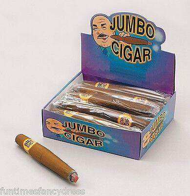 Jumbo Puff Cigar Fake Smoking Smoke Pimp Gangster Che Churchill Cuban Fancydress