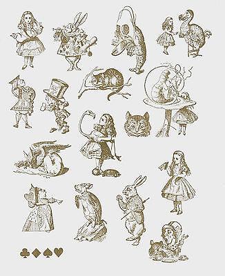 Alice in Wonderland - Cling Foam Back Rubber Stamps