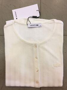 T shirt Viscose 70v À Courtes Tf3162 Cream Manches Lacoste Flour Femme 54Yd6xn5q