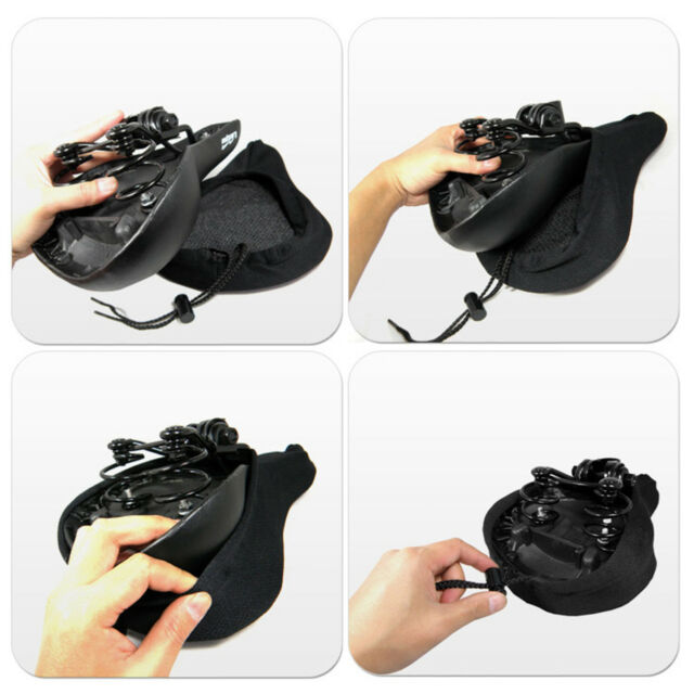 Cycling 3D Silicone Soft Thick Cushion Cover Mountain Bike Saddle Seat Pads EA7