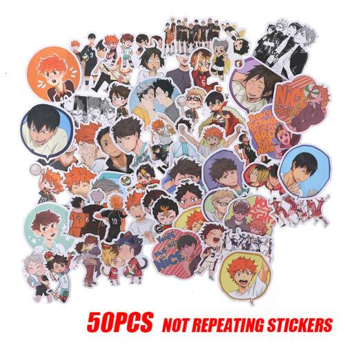 50PCS Anime Haikyuu PVC Sticker for Luggage Laptop Skateboard Waterproof RIB /_sg