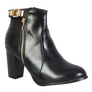 5a417699b6a Details about Women's Ladies Chelsea Booties Mid Cuban Low Heels Zip Up  Ankle Boots Sheos Size