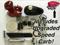 Race Red 2014 Model 66/80cc Bicycle Engine Kit, For Motorized Bicycle - Red