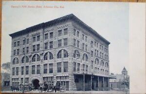 Arkansas-City-KS-1908-Postcard-Rannety-039-s-Fifth-Avenue-Hotel-Kansas-Kans