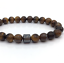 Para Hombres Damas Shamballa Pulsera de curación de yoga con Piedra de Ojo de Tigre Marrón Grano