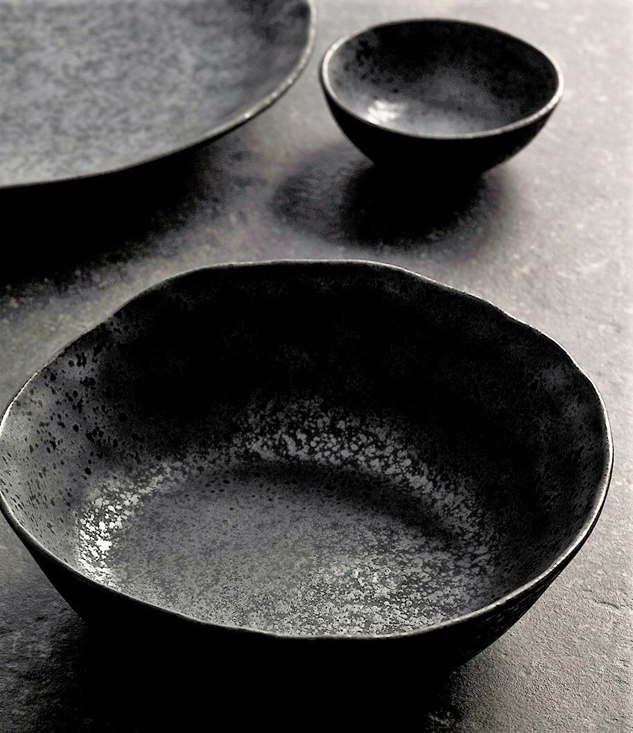 Rania-S6D6 -  Rania Collection  6 Ceramic Soup Bowls & 6 Dipping Bowls