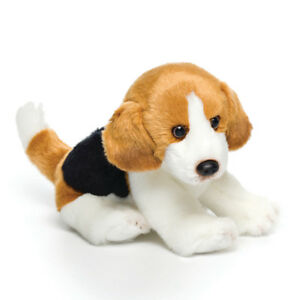 DEMDACO-Nat-amp-Jules-Sitting-Small-Beagle-Dog-Childrens-Plush-Stuffed-Animal-Toy