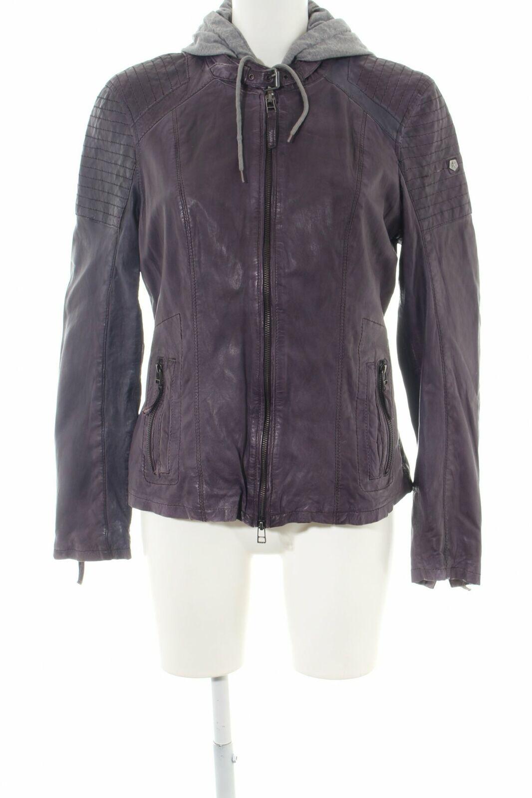 MILESTONE Lederjacke lila Casual-Look Damen Gr. DE 42 Jacke Jacket Leder
