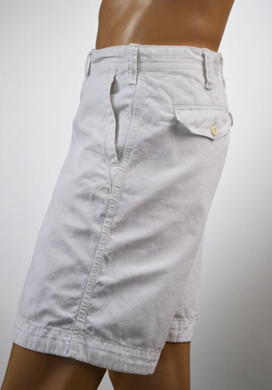 Ralph Lauren Men White Denim Relaxed Fit ShortsWhite Pony NWT