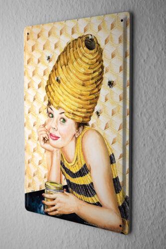 Honey Bee Tin Sign Kitchen Wall Decor Mrs