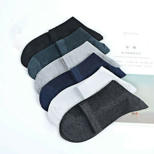 5-10-pairs-Lot-Mens-Business-Casual-Thin-Solid-Crew-Quarter-Dress-Cotton-Socks