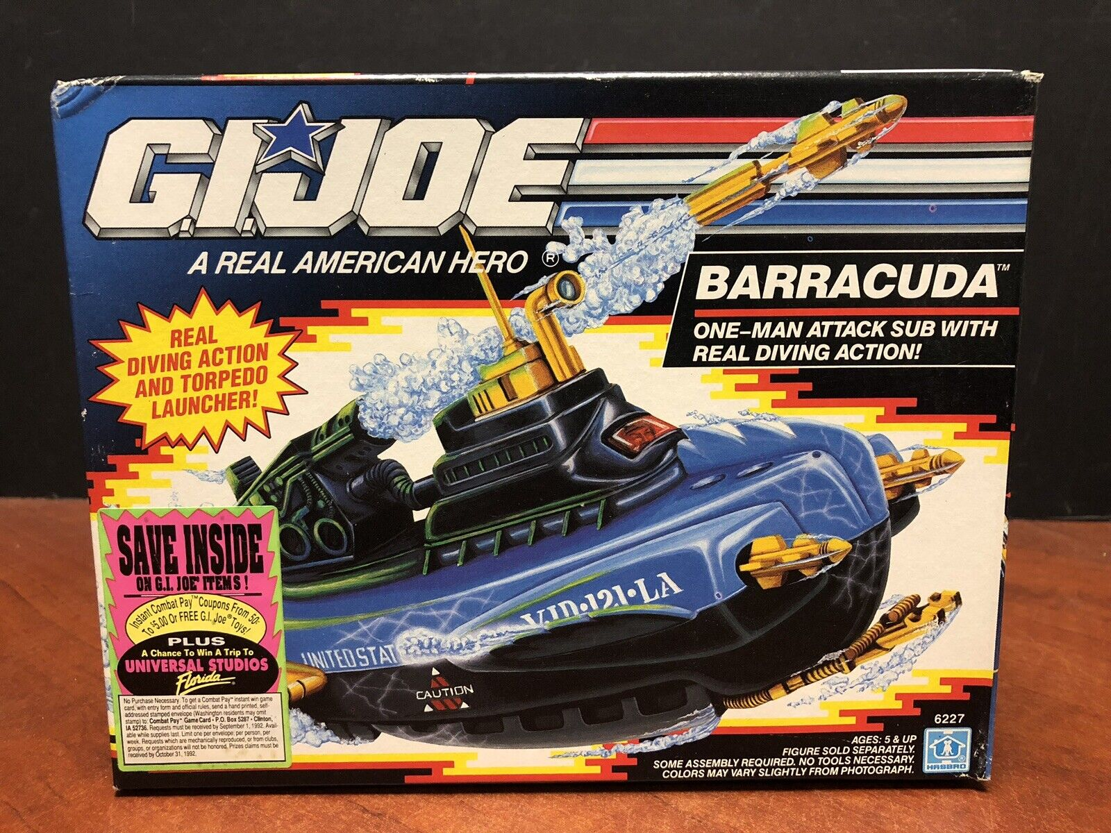 GI Joe  1991 Barracuda Submarine Sealed Dela0270  liquidazione fino al 70%