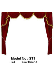 Saaria Home Decor Velvet Screen Curtains Event Stage Drapes Backdrop 7'Wx8'H ST1