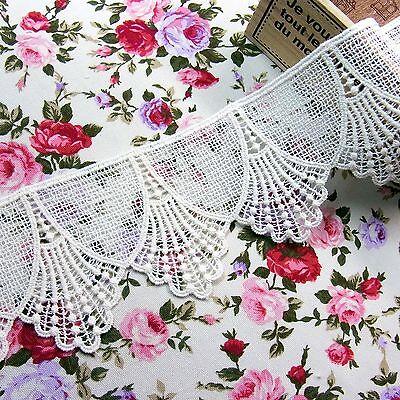 Antique Style Embroidery Cotton Crochet Lace Trim 7.5 cm Wide 1yard