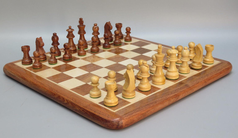 Chess Chess Chess Set Handmade incrusté Lourd Solide palissandre BOIS Board Game 14