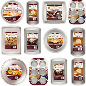Kitchen-Cooking-Baking-Steel-Tin-Dish-Pie-Pizza-Cake-Muffin-Tray-Oven-Pan-Set