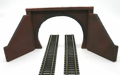 2 X Detailed Model Railway Double Track Tunnel Entrance For Ho / Oo New 01