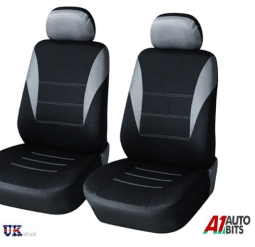 GREY-BLACK FABRIC FRONT SEAT COVERS FOR VAUXHALL COMBO VIVARO MOVANO NEW IN BAG
