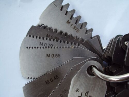 Gear Tooth Modular gauge 15 leaves 23 sizes .35 to 4.5  DP  20dec pressure angle