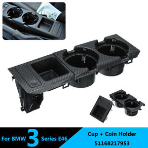 For BMW E46 3Series 1999-2006 Front Center Console Drink Cup Holder Storing BOX