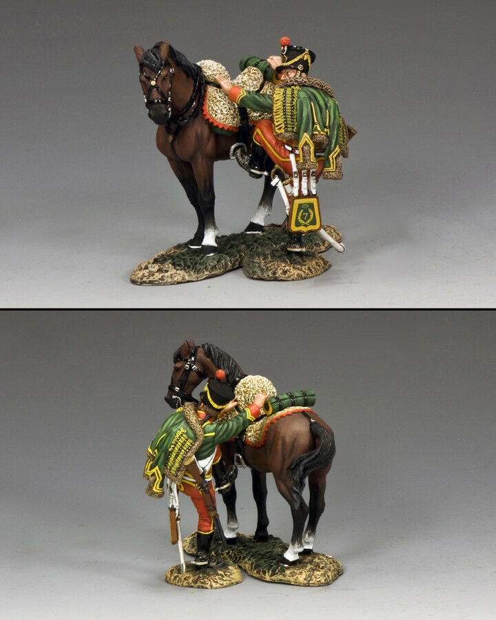 KING AND COUNTRY NAPOLEONIC Hussar Mounting-Up NA304