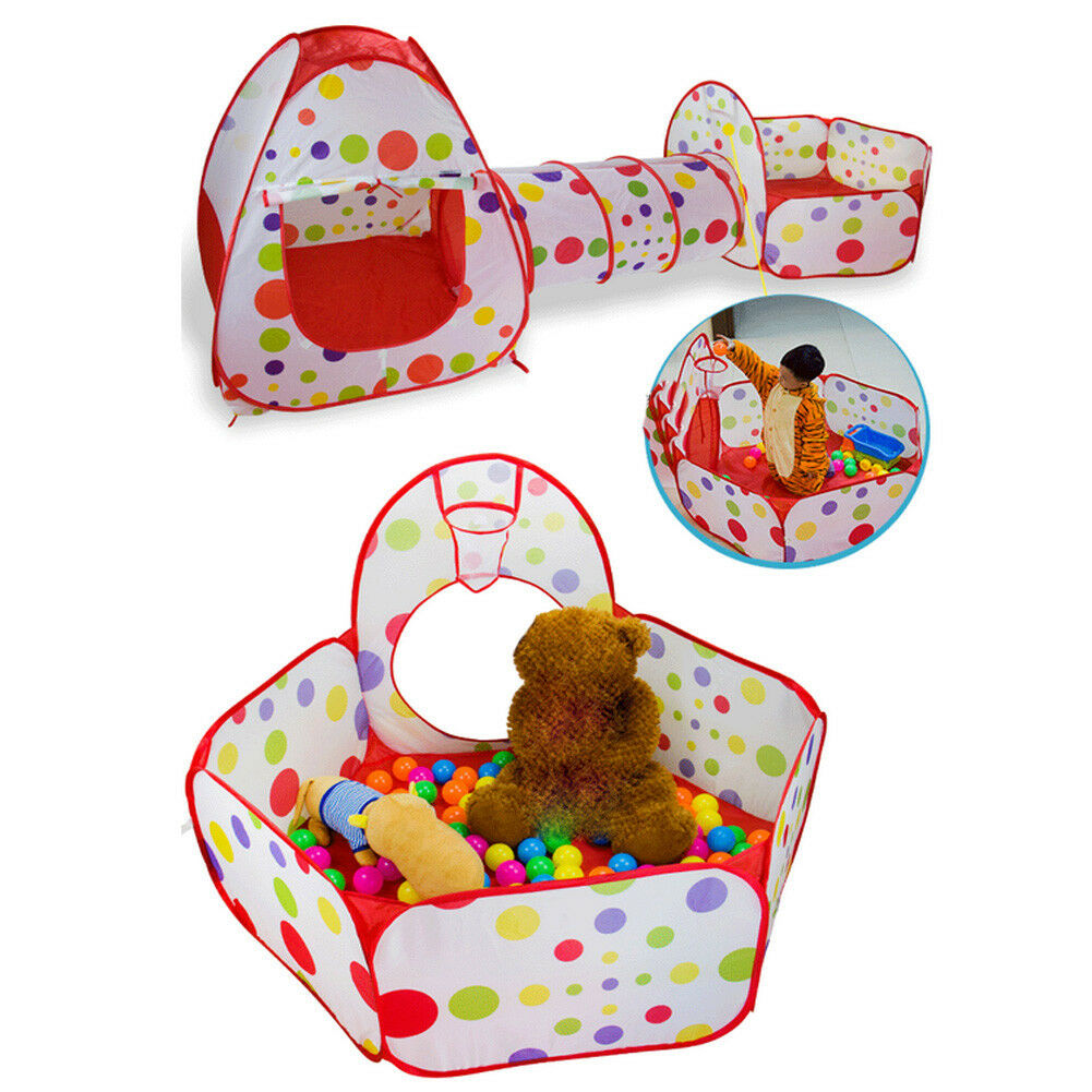 3 IN IN IN 1 PORTABLE FOLDABLE KIDS PLAY TENT CRAWL TUNNEL BALL PIT PLAY HOUSE FADDISH 67991d