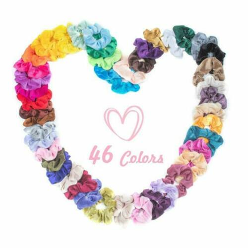 Multi-Color Elastic Hair Scrunchies In Velvet For Women With Storage Bag
