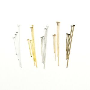 100x-Headpins-Jewellery-Findings-16mm-40mm-Silver-Gold-And-More-BUY-3-GET-3-FREE