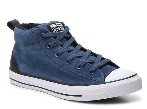 CONVERSE Unisex All Star Street Mid Blue Suede Sneakers Shoes 161468C NEW