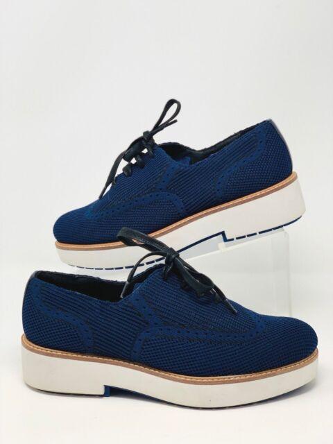 e92850a6db1 Zara Woman Brogues Platform Derby Shoes Sneakers Navy Blue EU 38 US 7.5 NWT