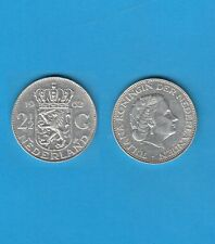 § PAYS-BAS NETHERLANDS 2,50 Gulden  1962  Silver Coin