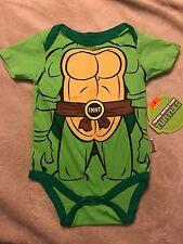 NWT Teenage Mutant Ninja Turtle Green Superhero 6-9 Months One-Piece Bodysuit