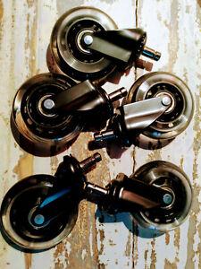 Lot de 5 roulettes de Chaise de Bureau pour Fauteuil de Bureau, roulettes