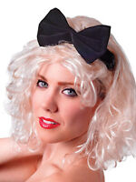Ladies 80s Material Girl Madonna Blonde Wig Pop Star Fancy Dress Accessory New
