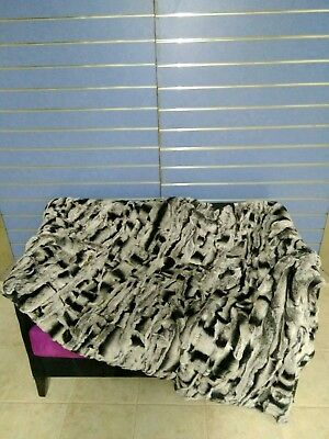Natural Rex Chinchilla Fur Throw 100/% Real Chinchilla Fur Bedspread Blanket