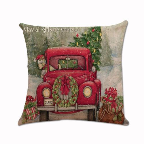 Christmas Xmas Santa Claus Cushion Cover Pillow Case Square Car Home Decor New