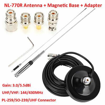 Dual Band UHF//VHF 144//430MHz High Gain Amateur UHF Plug PL-259 Mobile Car Radio