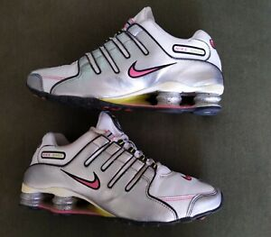 Nike-Shox-NZ-SL-Running-Shoes-White-Silver-Pink-Sneakers-2012-Womens-Sz-9-5