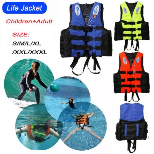 Adult-Kids-Life-Jacket-Kayak-Ski-Buoyancy-Aid-Vest-Sailing-Fishing-Watersport-UK