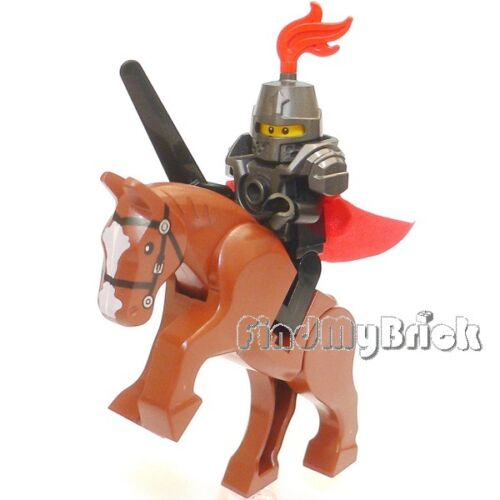C804 Lego Hero Knight Minifigure with Heavy Armor Weapon /& Battle Horse NEW