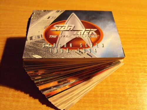 Star Trek The Next Generation Staffel Siebte Komplettes Basis Karte Set