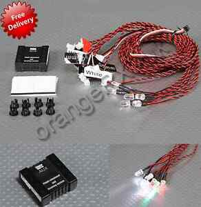 RC-Aircraft-Scale-Navigation-LED-Lighting-System-NAV-Lights-Lamp-Set-orangeRX-UK