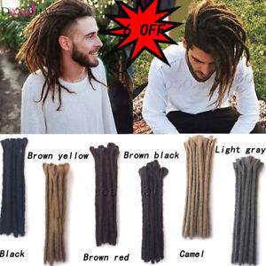 Details about 12\u0027\u0027 Short Synthetic Dreadlocks Twist Crochet Braid Men  Dreads Hair Extensions