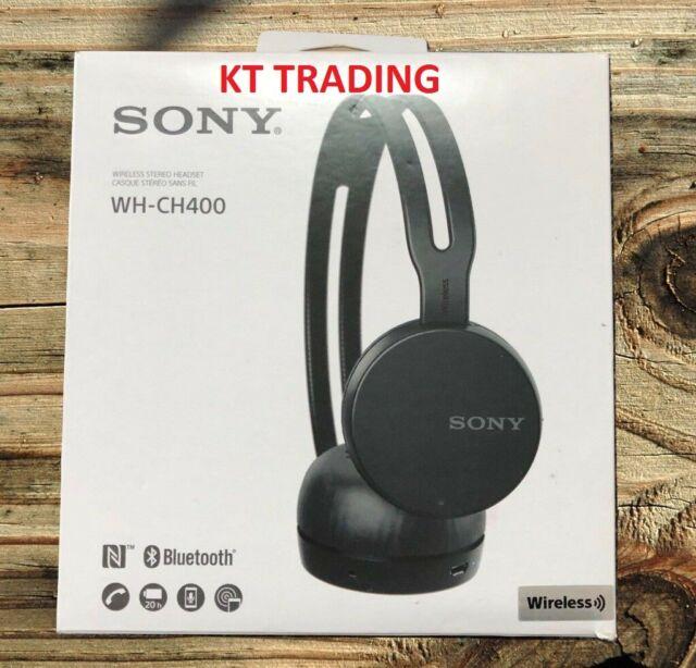 Sony WH-CH400 Wireless Bluetooth Headband Headphones w/Microphone - BLACK - NEW