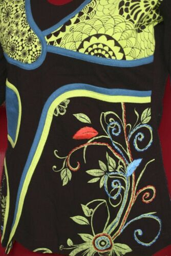 Dark Dreams Top Longsleeve Shirt Patchwork Lagenlook floral Secret Garden