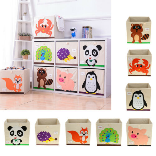 36L Foldable Kids Dogs Toys Storage Bin Closet Toy Box Container Organizer
