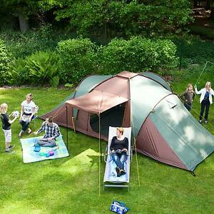 Image is loading skandika-Silverstone-XXL-6-Berth-Man-Group-Family- & skandika Silverstone XXL 6 Berth Man Group Family Dome Tent Sewn ...