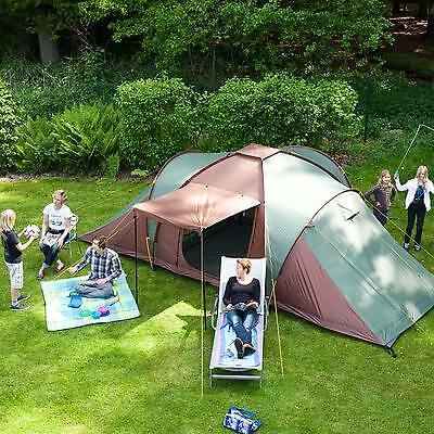 skandika Silverstone XXL 6 Berth Man Group Family Dome Tent Sewn-in Floor New