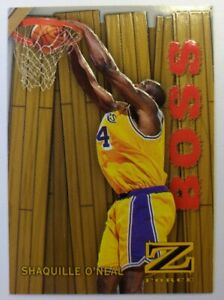 1996-97-Skybox-Z-Force-Boss-Shaquille-O-039-neal-14-Embossed-Insert-Lakers